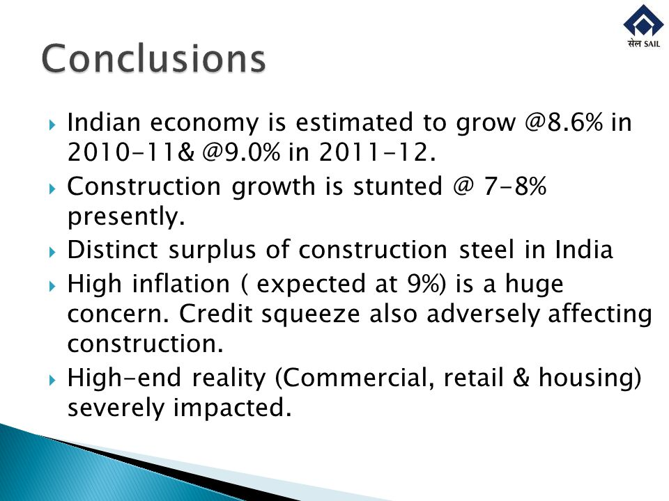 Indian economy is estimated to grow @8.6% in 2010-11& @9.0% in 2011-12.