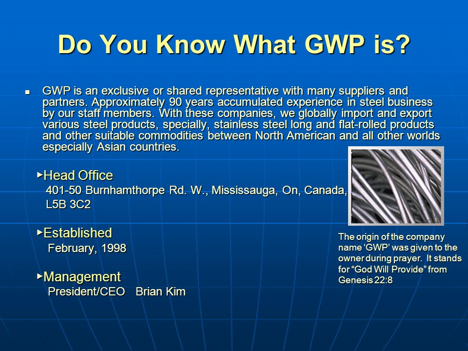 Do You Know What GWP is.