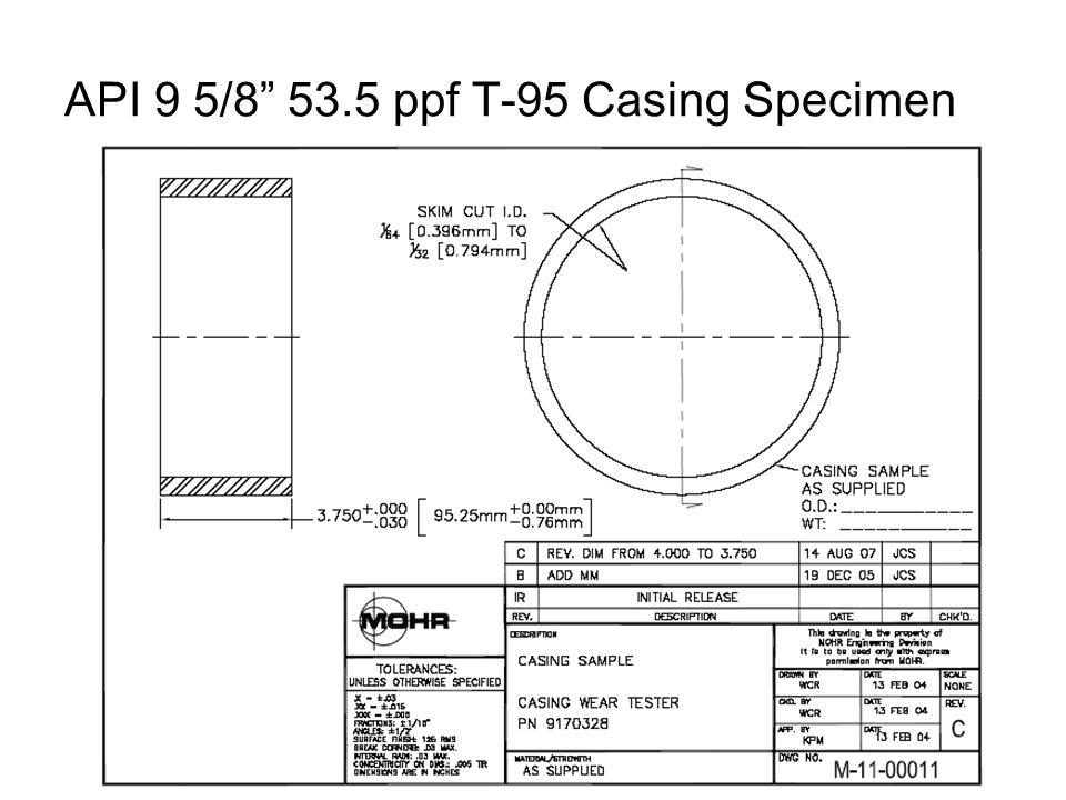 API 9 5/8 53.5 ppf T-95 Casing Specimen