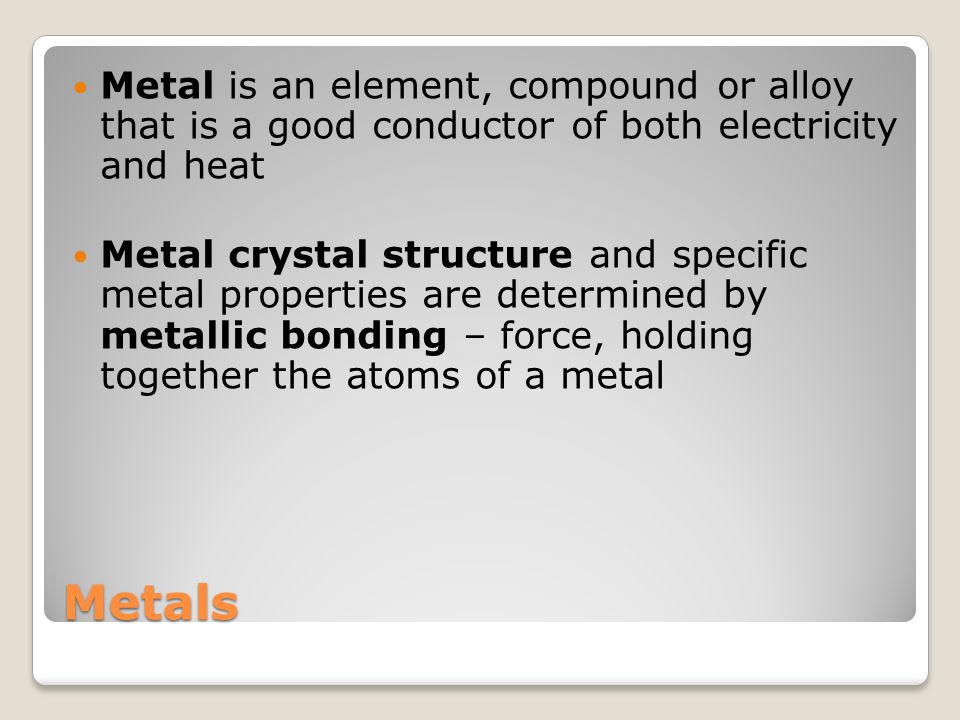 Metals Ability of the valence free electrons to travel throughout the solid explains both the high electrical conductivity and thermal conductivity of metals.