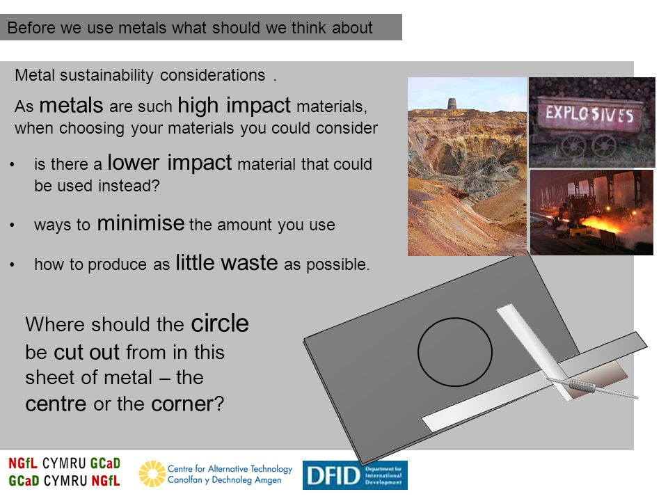 Metal sustainability considerations.
