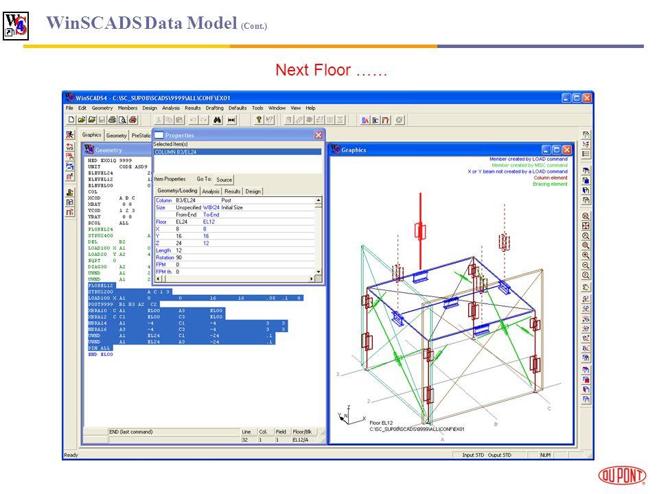 WinSCADS Data Model (Cont.) Next Floor ……