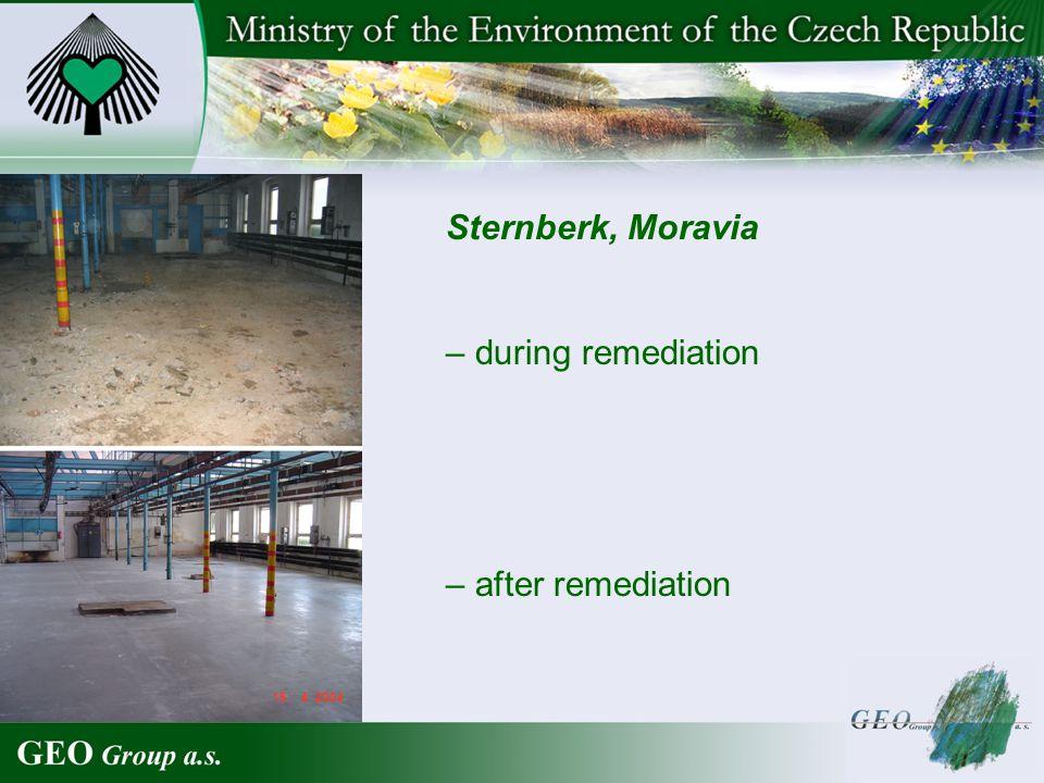 – after remediation Sternberk, Moravia – during remediation