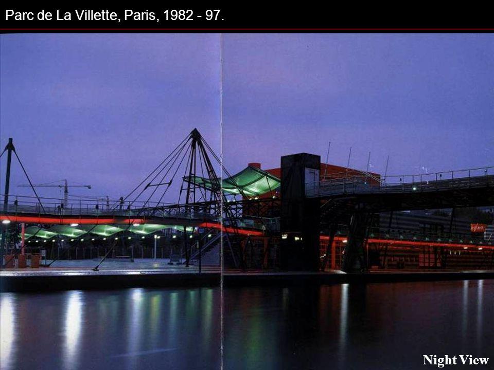 Parc de La Villette, Paris, 1982 - 97. Night View