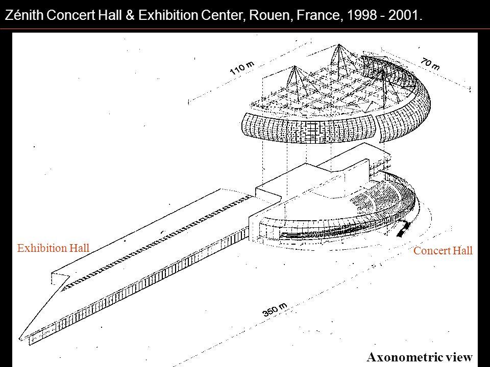 Axonometric view Exhibition Hall Concert Hall
