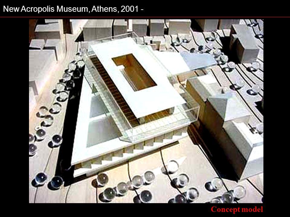 New Acropolis Museum, Athens, 2001 - Concept model