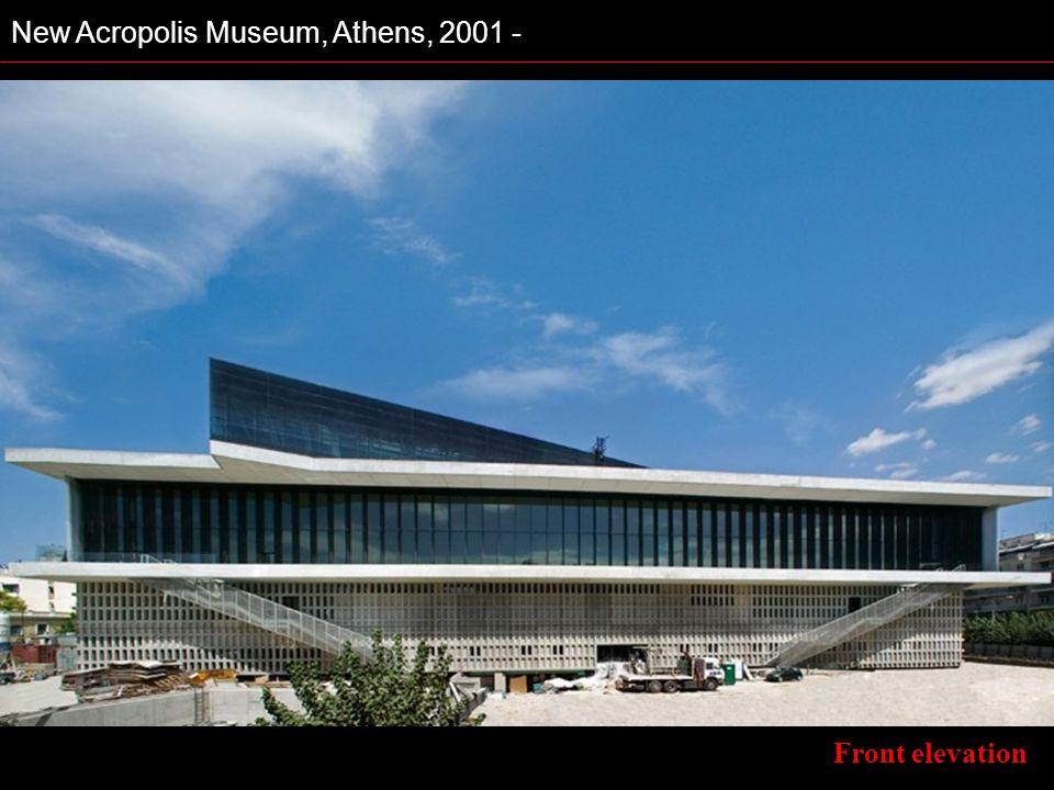 New Acropolis Museum, Athens, 2001 - Front elevation