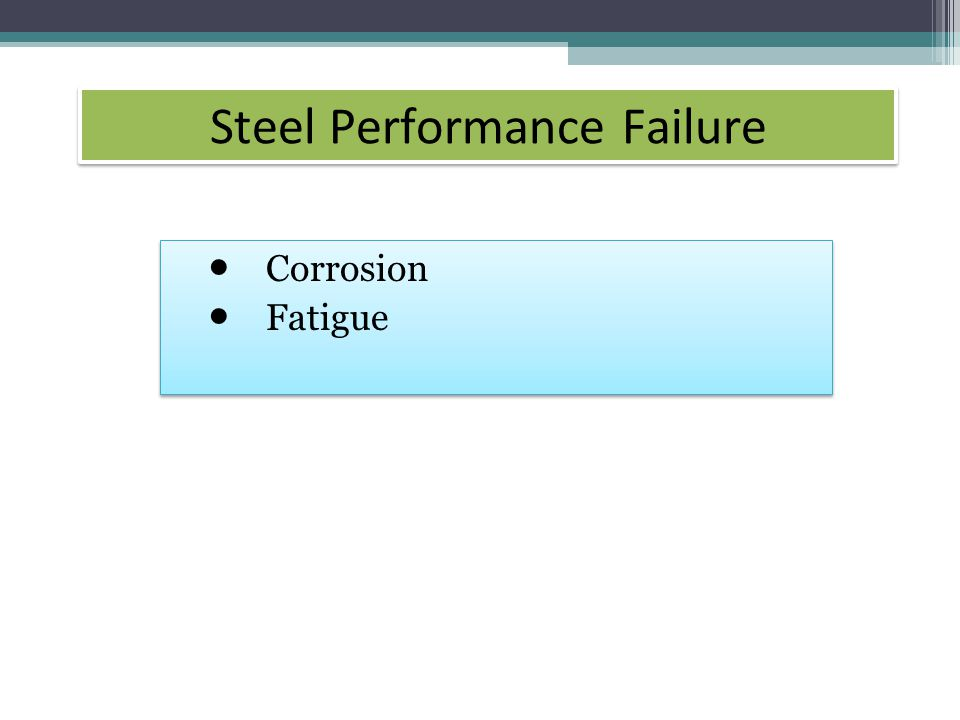 Steel Performance Failure Corrosion Fatigue Corrosion Fatigue