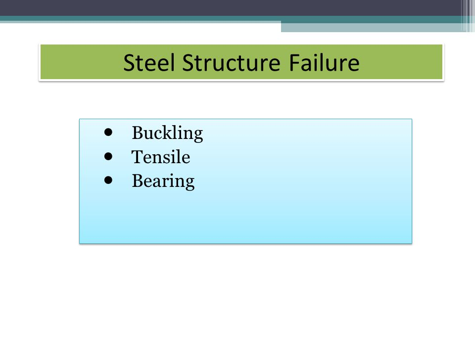 Steel Structure Failure Buckling Tensile Bearing Buckling Tensile Bearing