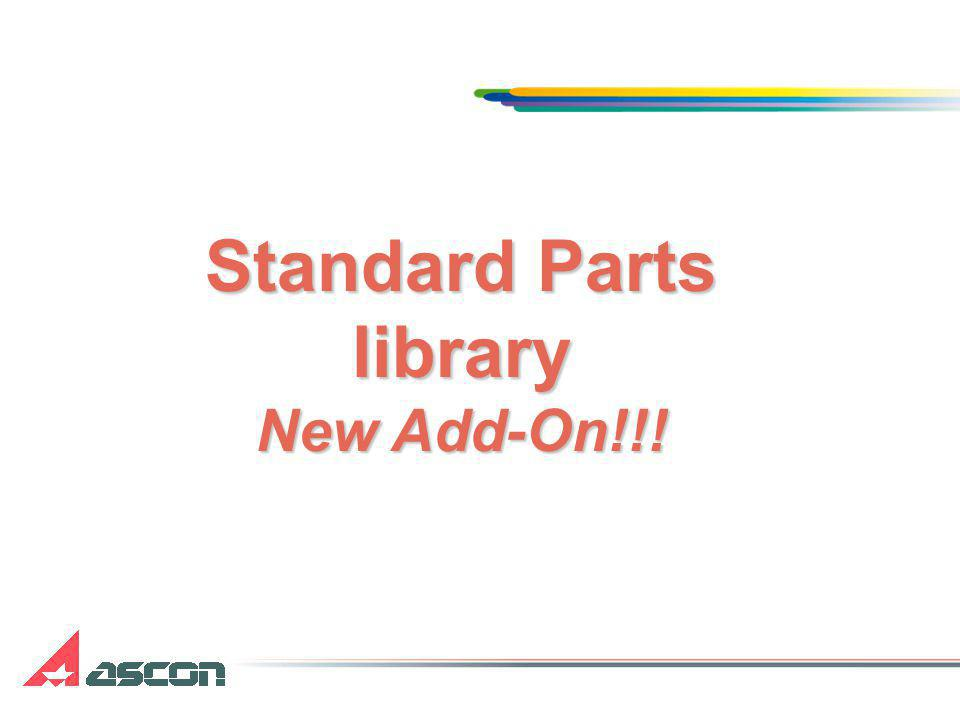 Standard Parts library New Add-On!!!
