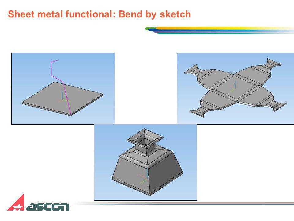 Sheet metal functional: Bend by sketch