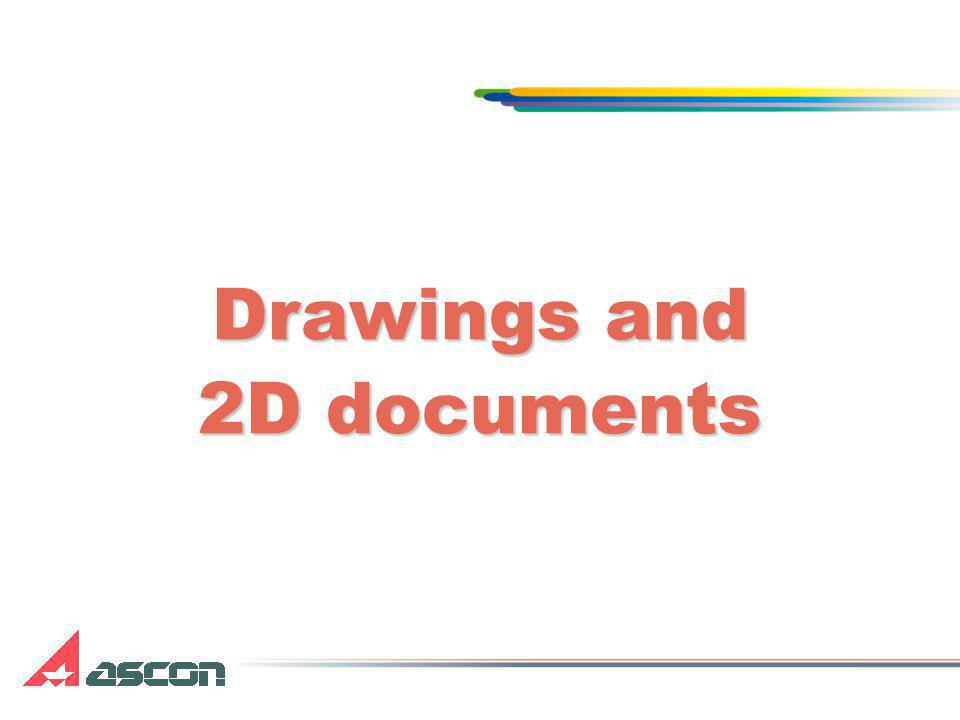 Drawings and 2D documents