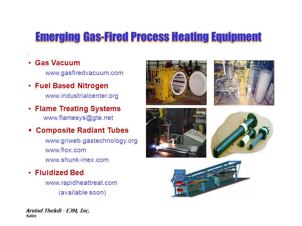 Arvind Thekdi - E3M, Inc. Sales Emerging Gas-Fired Process Heating Equipment Gas Vacuum www.gasfiredvacuum.com Fuel Based Nitrogen www.industrialcente