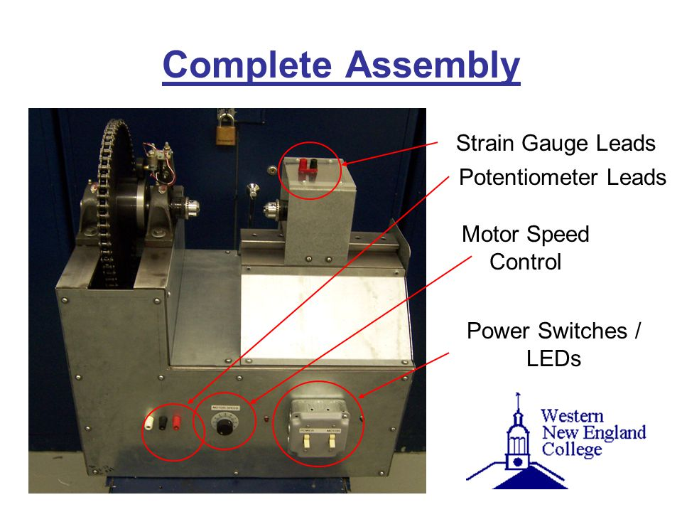 Complete Assembly Potentiometer Leads Motor Speed Control Power Switches / LEDs Strain Gauge Leads