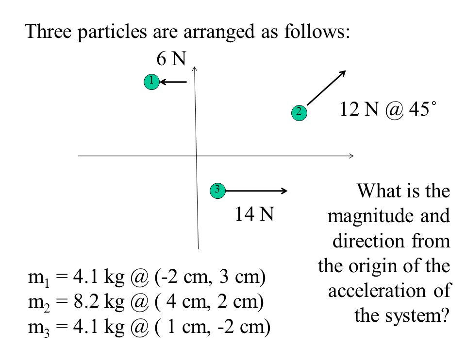 Newtons Laws then hold for each individual parts as well as the center of mass for the system.