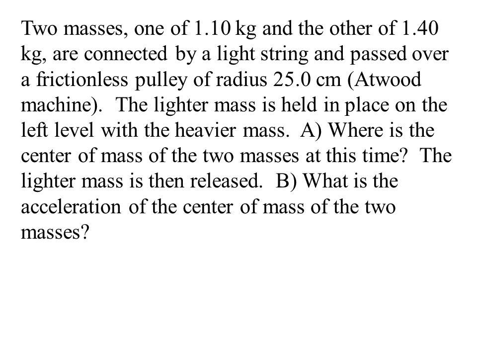 F x = F 1x + F 2x + F 3x = F y = F 1y + F 2y + F 3y = - 6 N + cos45˚(12 N) + 14 N = 16.5 N 0 + sin45˚(12 N) + 0 = 8.5 N F ext = F x 2 + F y 2 = 18.6 N ø = tan -1 (F y /F x )= 27˚ a = F M 18.6 N 16.4 kg = 1.1 m/s 2