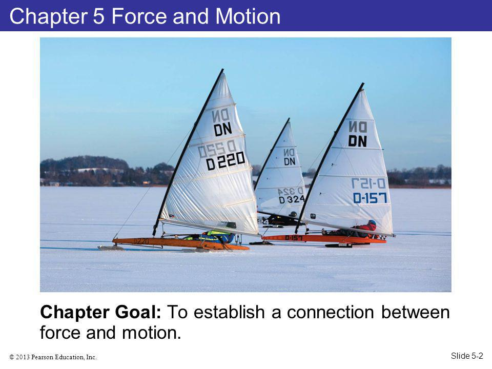 © 2013 Pearson Education, Inc.Chapter Goal: To establish a connection between force and motion.