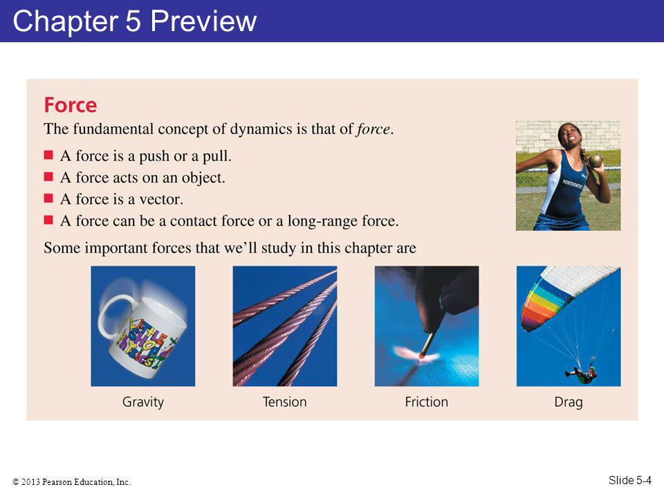 © 2013 Pearson Education, Inc. Chapter 5 Preview Slide 5-4