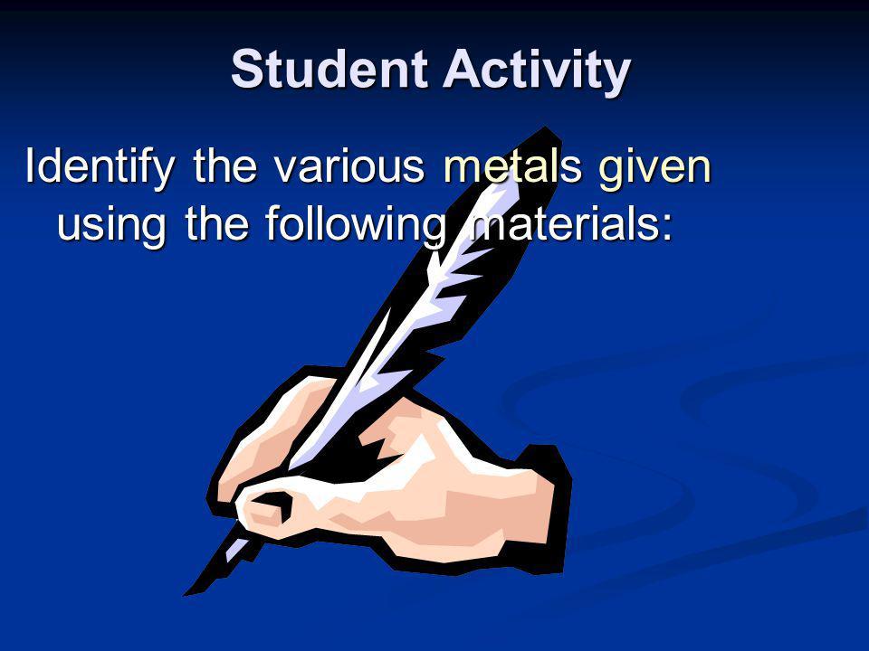 Handouts of Metal Identification