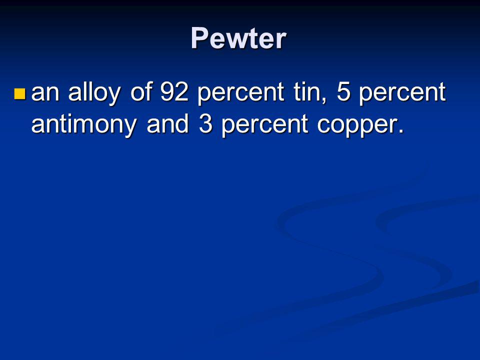 Monel is an alloy of 60 percent nickel and 40 percent copper.