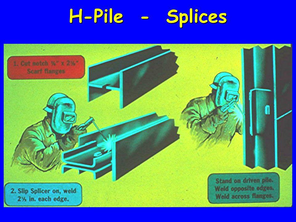 H-Pile - Splices