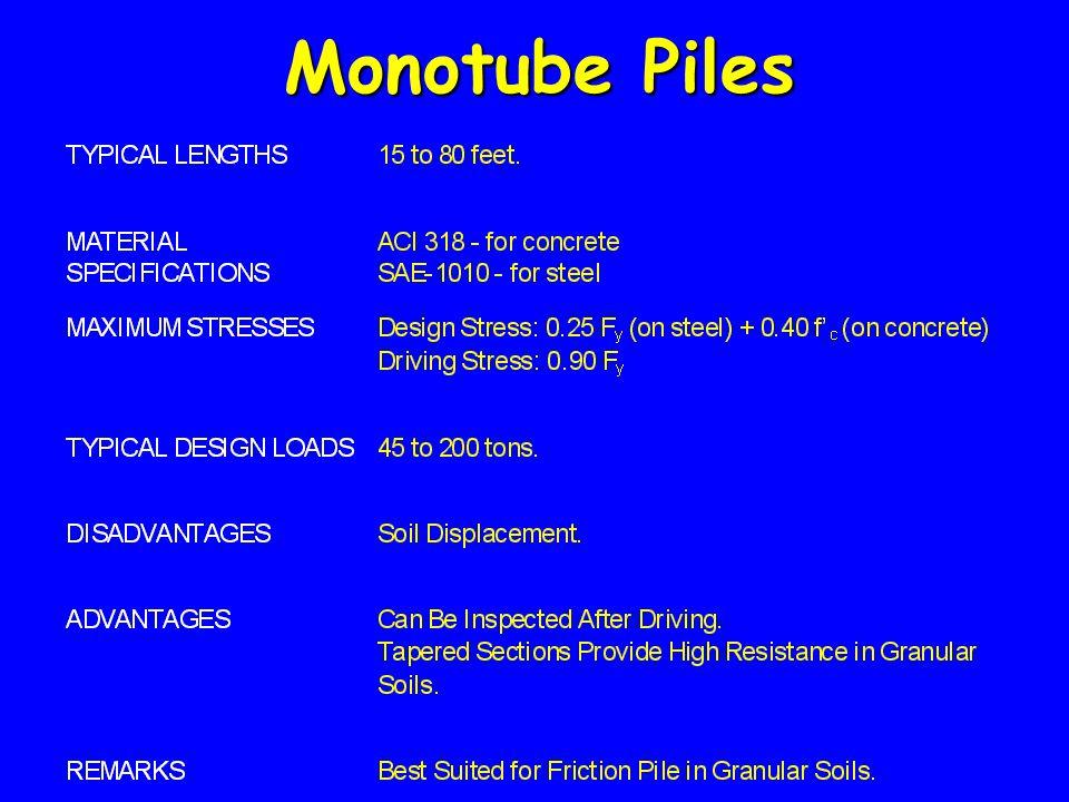 Monotube Piles