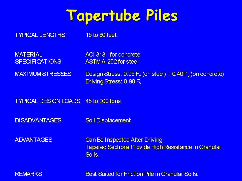 Tapertube Piles