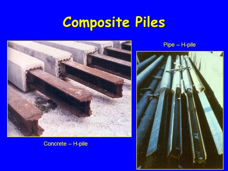 Concrete – H-pile Pipe – H-pile Composite Piles