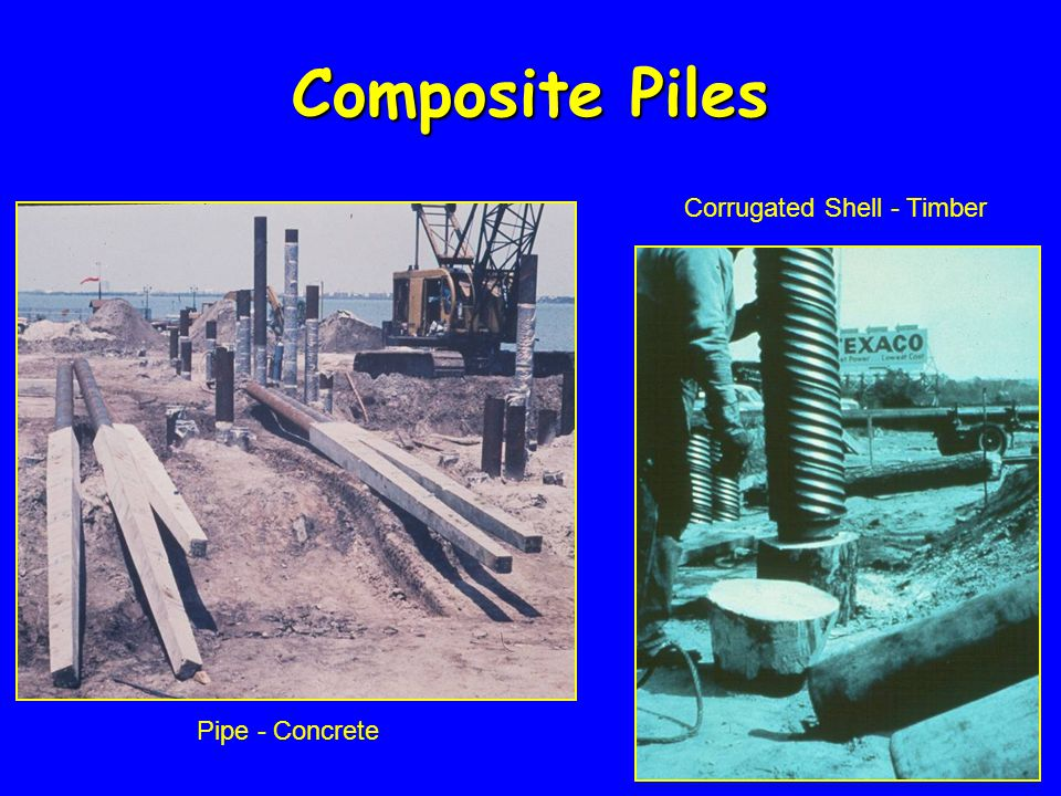 Pipe - Concrete Corrugated Shell - Timber Composite Piles