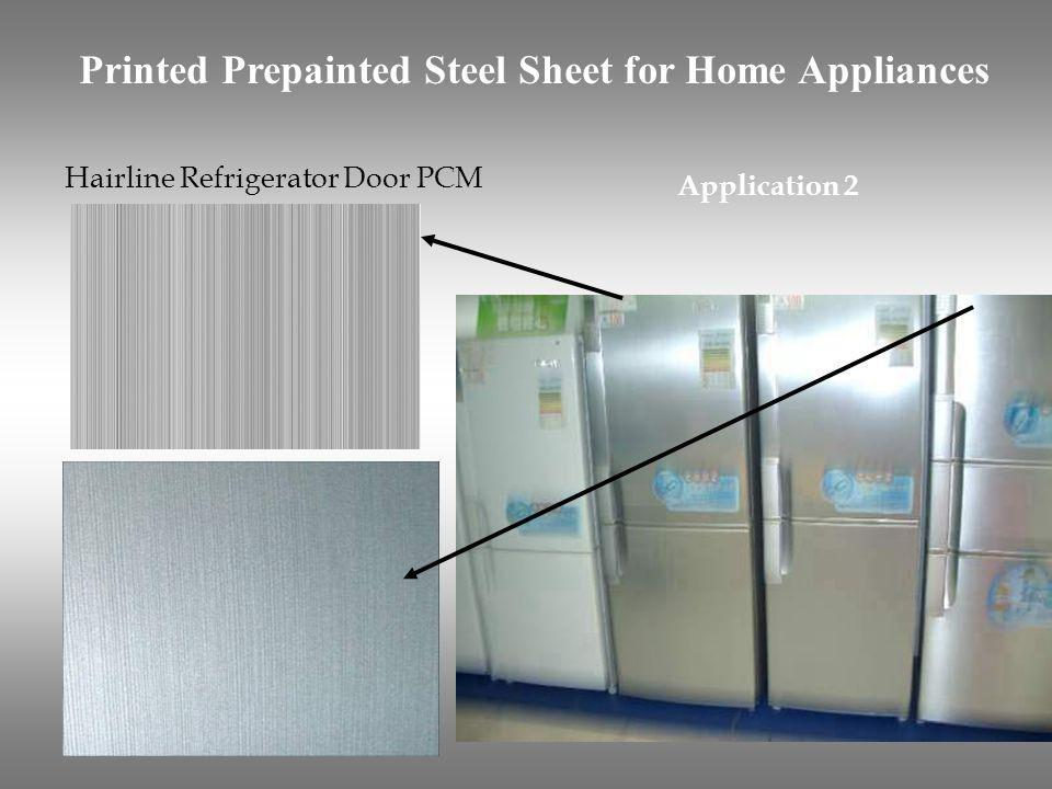 Printing two-tone PCM for refrigerator door Application 3 Printed Prepainted Steel Sheet for Home Appliances