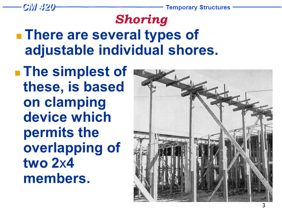 Temporary Structures 14 Tube and Coupler Scaffolds Tube and coupler scaffolds are assembled from three basic structural elements: the uprights, or posts, which rise from ground or other solid support the bearer, which supports the work platforms and / or provide transverse horizontal connections between the posts; the runners, which attach to the posts directly below the bearers and provide longitudinal connections along the length of the scaffold.