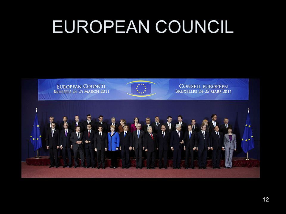 12 EUROPEAN COUNCIL