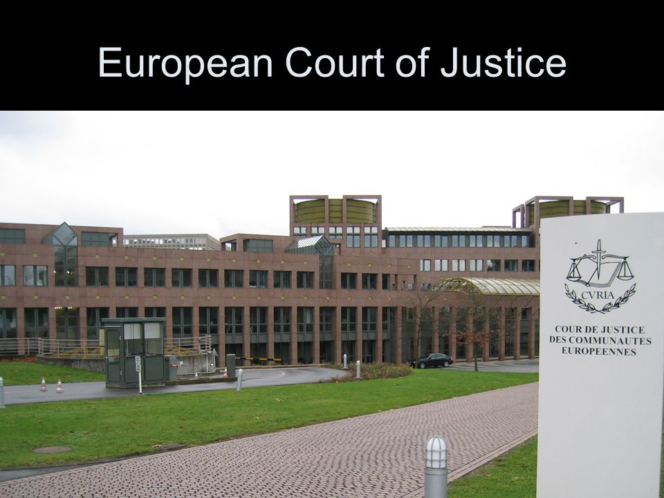 15 European Court of Justice