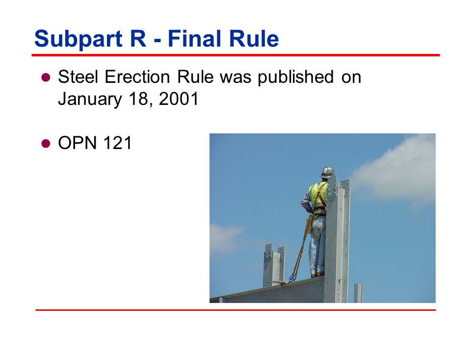 Fall Protection Equipment Fall protection equipment must conform to 1926.502 Fall arrest system components shall be used in fall restraint systems Body belts or body harnesses shall be used in fall restraint systems Perimeter safety cables shall meet criteria for guardrail systems 1926.760(d)