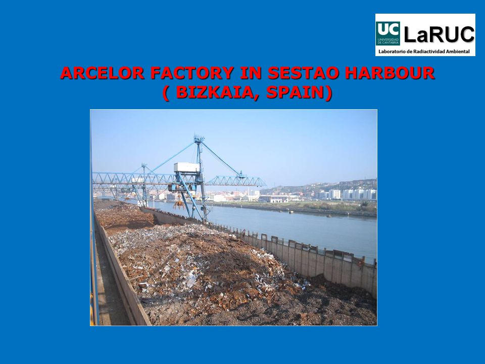 ARCELOR FACTORY IN SESTAO HARBOUR ( BIZKAIA, SPAIN)