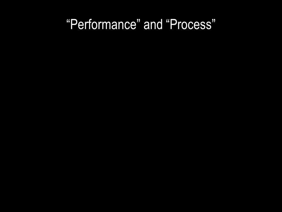 Performance and Process