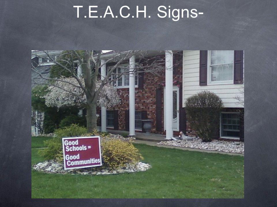 T.E.A.C.H. Signs-