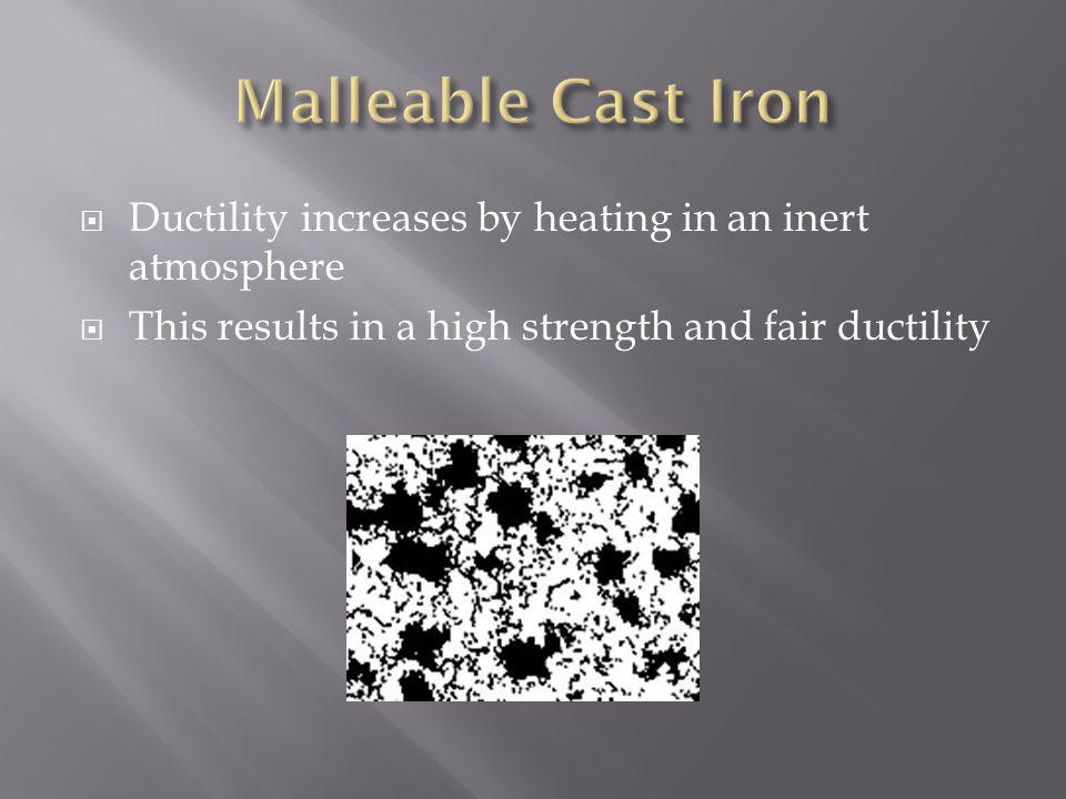 Ductility increases by heating in an inert atmosphere This results in a high strength and fair ductility