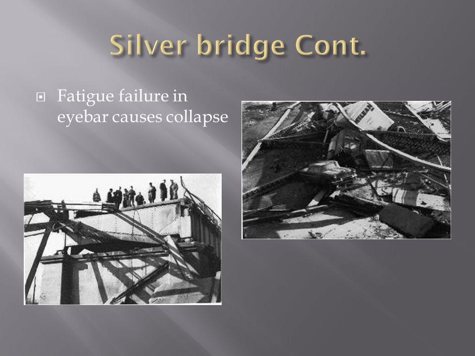 Fatigue failure in eyebar causes collapse