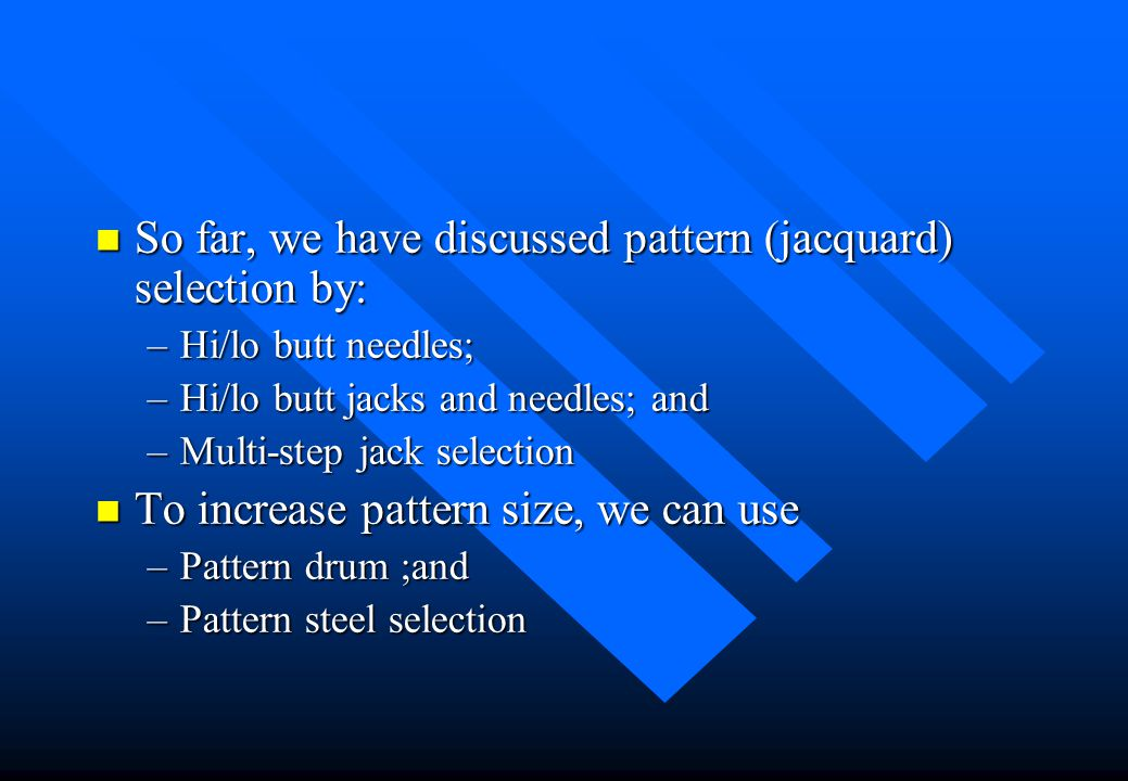 Pattern Drum Selection