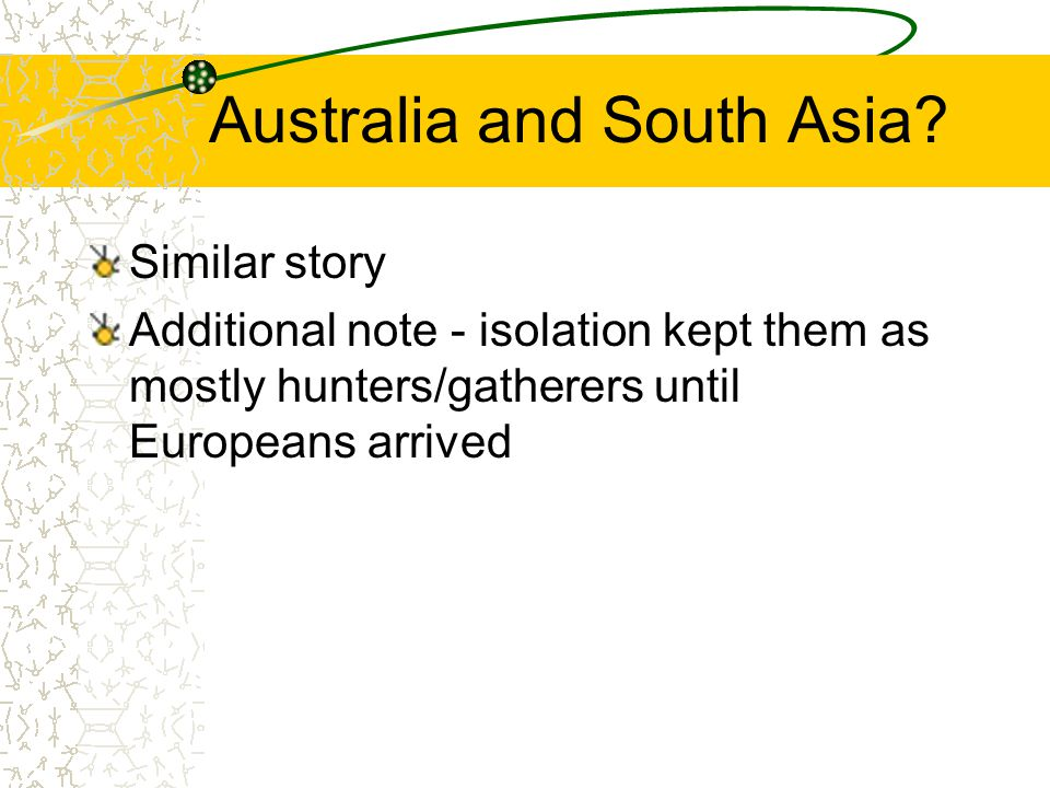 Australia and South Asia.