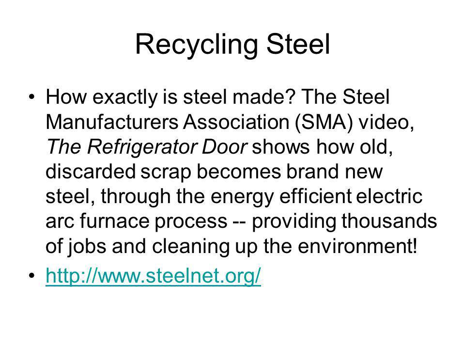 Recycling Steel How exactly is steel made.