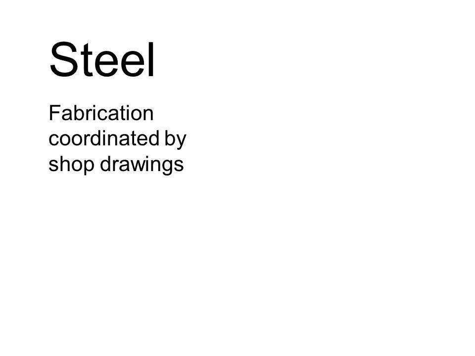 Steel Fabrication coordinated by shop drawings