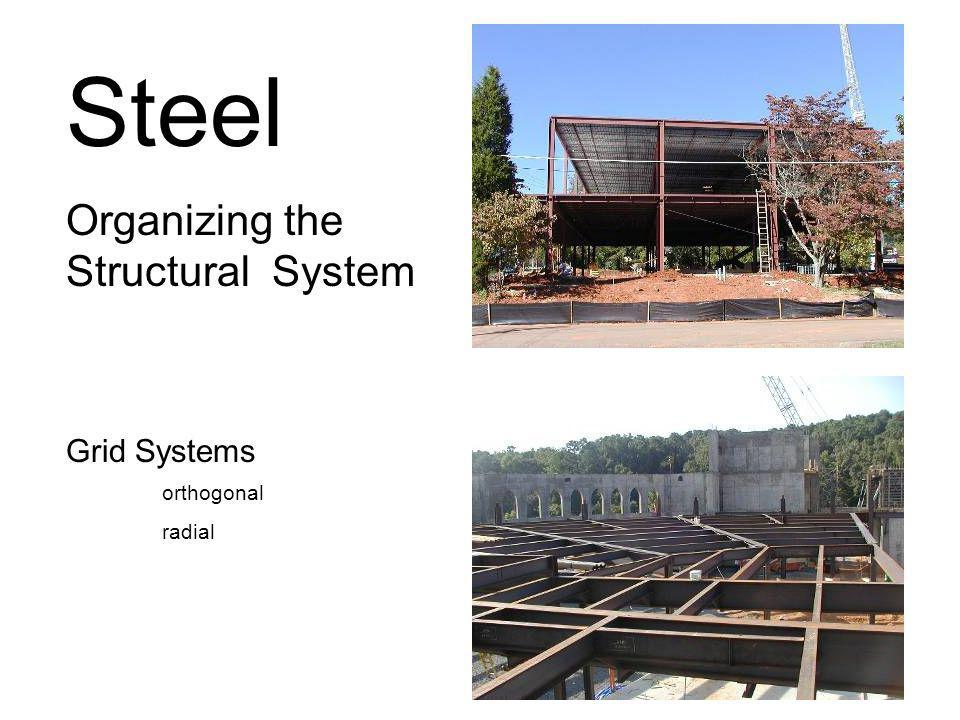 Steel Organizing the Structural System Grid Systems orthogonal radial