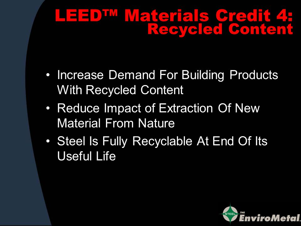 HOW TO LEED WITH STEEL Go to U.S.