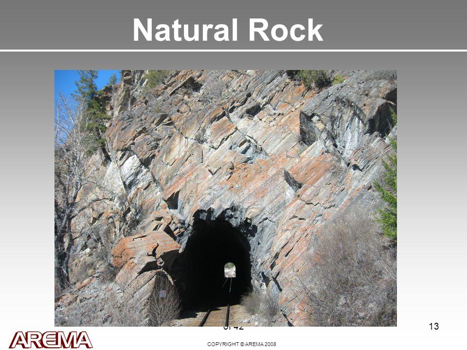 COPYRIGHT © AREMA 2008 of 4213 Natural Rock