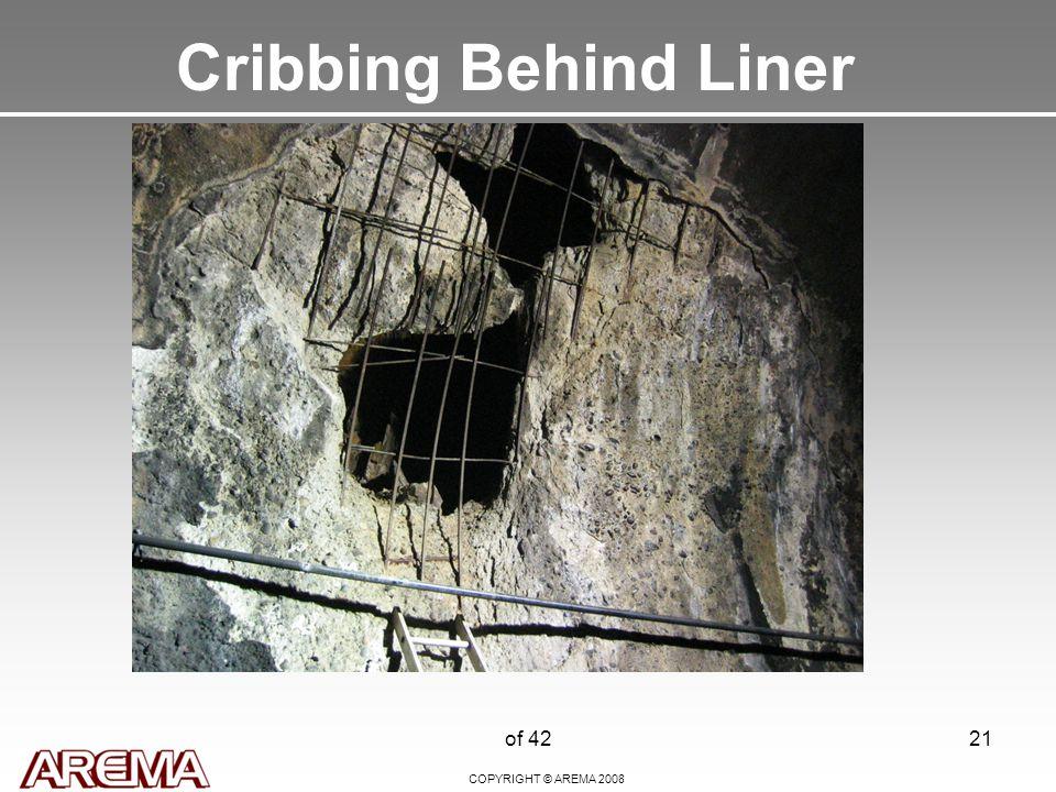 COPYRIGHT © AREMA 2008 of 4221 Cribbing Behind Liner
