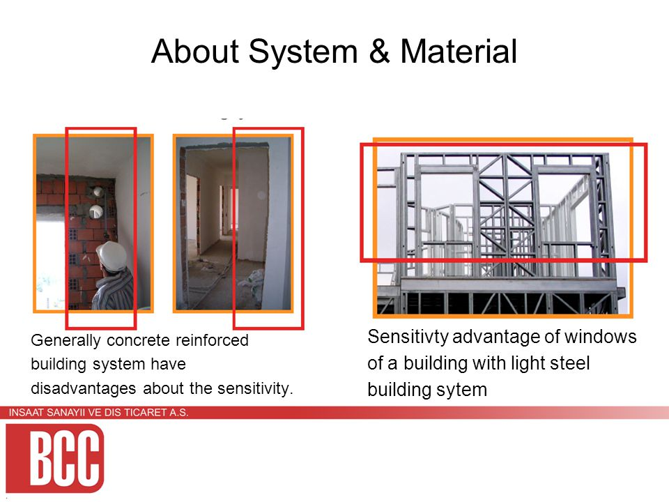 About System & Material Generally concrete reinforced building system have disadvantages about the sensitivity.