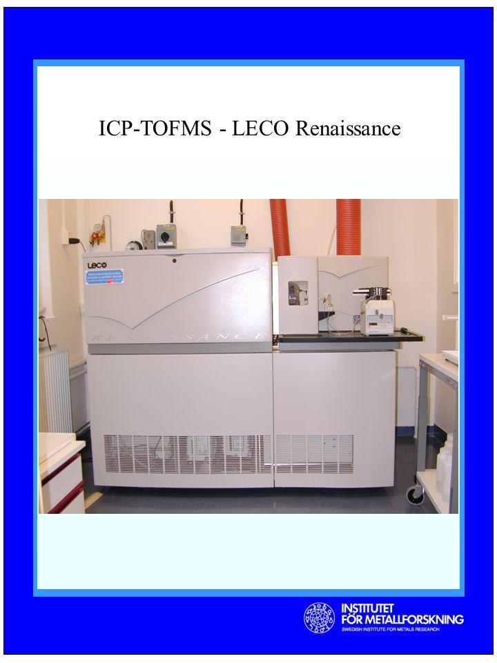 ICP-TOFMS - LECO Renaissance