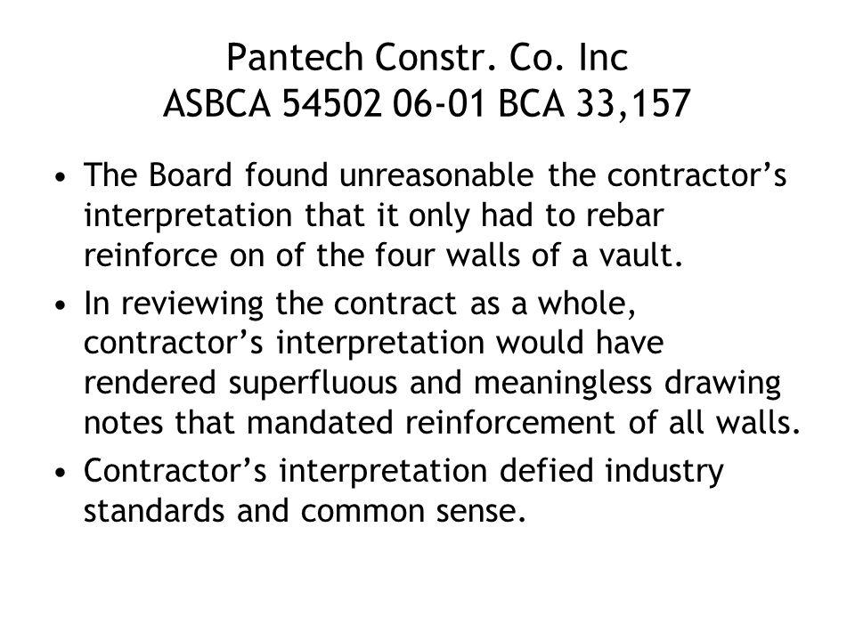 Pantech Constr. Co.
